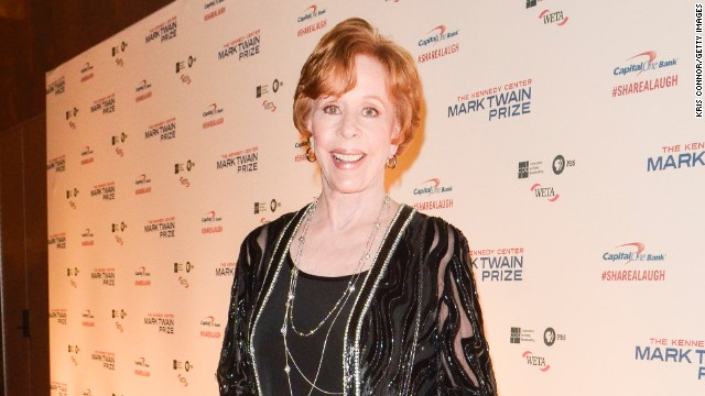 Carol Burnett on the red carpet before she receives the 16th Annual Mark Twain Prize for American Humor in October.