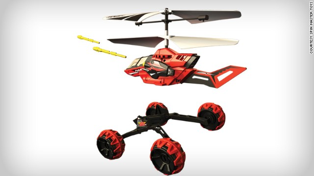 The Drop Strike toy gives military drones a run for their money with the ability to drive, eject from its chassis, fly away and launch (toy) missiles. <!-- --> </br><!-- --> </br> <i>Price: Around $49.99</i>