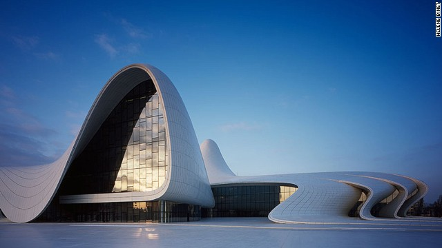 Heydar Aliyev Cultural Center in Azerbeijan's capital Baku is all sensual  folds and soft lines.