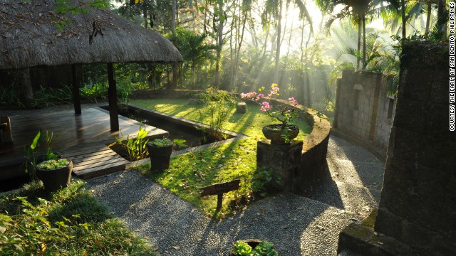The Farm at San Benito in the Philippines offers a vegan restaurant, spa packages and yoga.