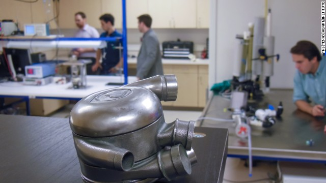 Scientists at the Texas Heart Institute are working to create a permanent replacement for the human heart. The blades on this BiVACOR device rotate an average of 2,000 times per minute, pushing blood throughout the body without creating a pulse.
