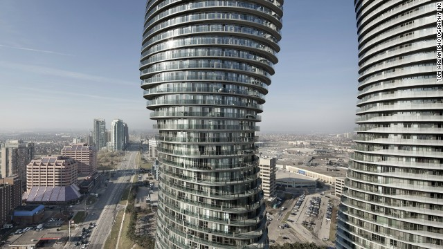 Creators of the Absolute World Towers 1 & 2 in Mississauga, Canada, were not shy to admit the inspiration behind their design - Marilyn Monroe's shapely curves. The buildings, which were also nicknamed after the iconic actress, were voted the best skyscraper completed in 2012.