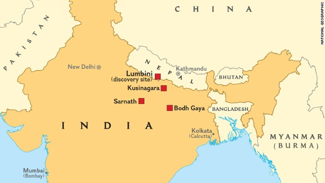 Lumbini is one of four major sites of importance for Buddhists. The other locations revered by followers of Buddhism are Bodh Gaya (where he became a Buddha), Sarnath (where he first preached) and Kusinagara (where he passed away).