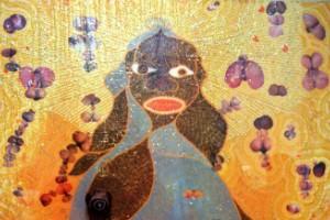 La Santísima Virgen María (1996), Chris Ofili