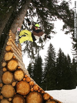 """My favorite run in the world is The Stash,"" says Becky Menday, member of Great Britain's Freestyle Snowboard Team. ""It takes you through the trees and has fantastic natural wooden features for you to session all the way through."""