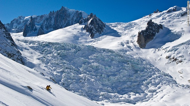 Accessed by the Aiguille du Midi cable car, Vallée Blanche is one of the world's most famous off-piste descents.
