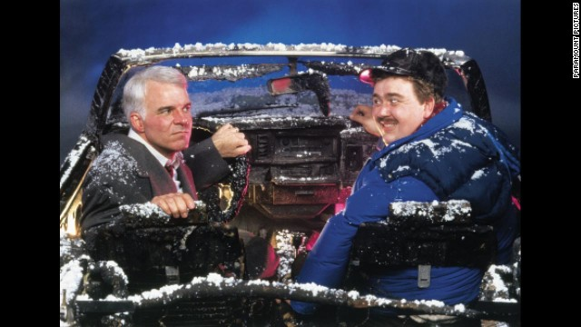 "Not only is Steve Martin's character, Neal Page, stranded in ""Planes, Trains and Automobiles,"" but he's stranded alongside the annoying salesman Del Griffith (John Candy). The duo suffer a series of misadventures together -- including a robbery, endless fights and a destroyed rental car -- while trying to make it home. The journey ends on a bit of high note but with what is surely one of the most heartbreaking Thanksgiving moments ever seen onscreen."
