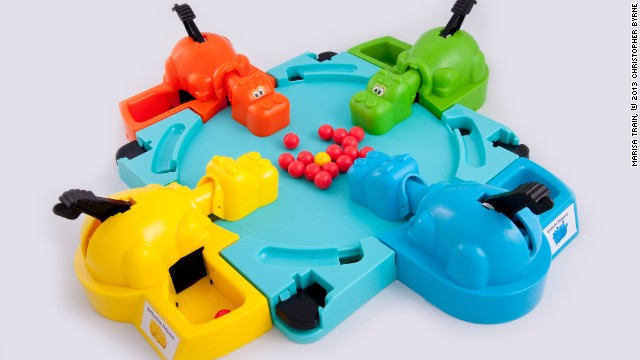 "There was more to Hungry Hungry Hippos than noise and chaos, Byrne says. ""Smart kids knew that there was a strategy to this game,"" he said. ""The name of the game was <i>controlled </i>whacking."""