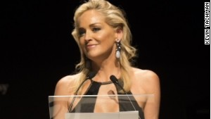Actress Sharon Stone, amfAR\'s global fundraising chairman