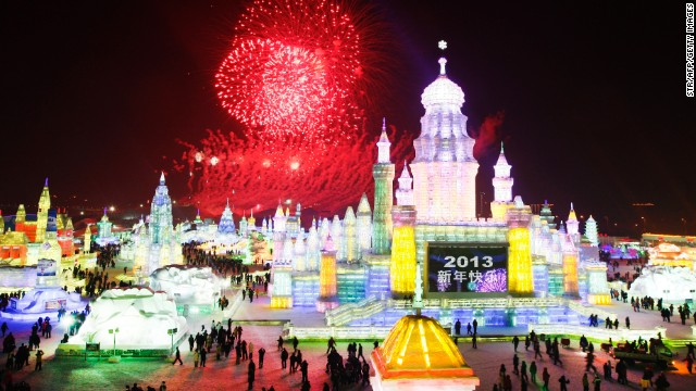 Celebrate Christmas or New Year's Day at the Harbin International Ice and Snow Festival in Harbin, in northeast China's Heilongjiang province.