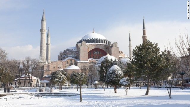 You'll see the Hagia Sophia in winter on a Christmas tour of Turkey, which includes a day in Old Istanbul.