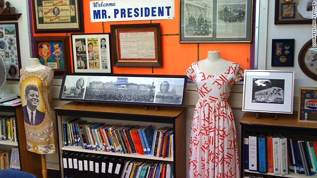 At Clairemont High School, the Museum of the American Presidency now has more than 40,000 items representing all 44 presidents. Part of the collection is on display in the school's library annex.