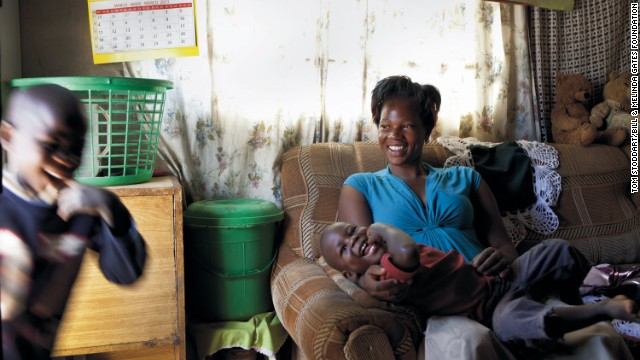 Today, about 80% of Zambians who need HIV treatment are receiving it. Linda Phiri, 29, began treatment five years ago and has since given birth to two children who are free of HIV.