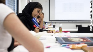 Students at NYU Abu Dhabi