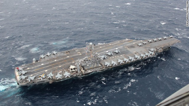 With over 5,000 crew and 80 aircraft, the USS George Washington is the U.S. Navy's only carrier deployed permanently outside the United States.