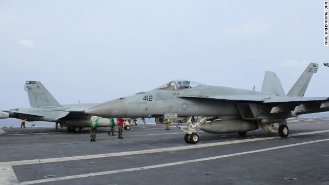 The U.S. Navy's only forward-deployed carrier has around 80 aircraft based on it; from fighters to helicopters and patrol airplanes.