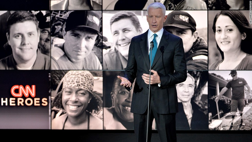 "CNN's Anderson Cooper hosts this year's edition of ""CNN Heroes: An All-Star Tribute."" The globally broadcast event honored the top 10 CNN Heroes of 2013 -- everyday people doing extraordinary things to help change the world."