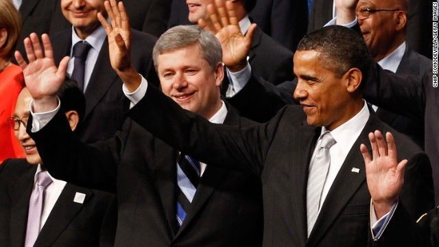 Obama, Harper make bet over Olympic hockey games