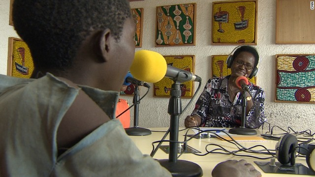 Ntahe uses her radio show to give homeless children a voice and discuss issues affecting them.