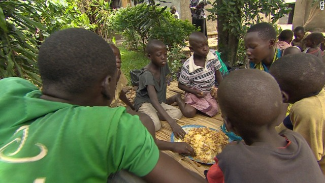 Every Sunday, she opens her house to the homeless street children of Bujumbura, the capital of Burundi, providing them with free meals.