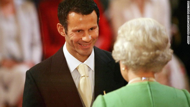 In recognition of his services to football, Giggs was made an Order of the British Empire (OBE) by Queen Elizabeth in 2007.