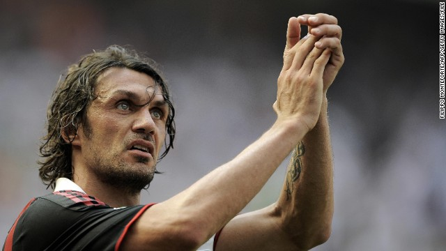 AC Milan stalwart Paolo Maldini is another player who spent his entire career at the top level. The rock-solid defender retired aged 40 in 2009 after 24 years with the Rossoneri.