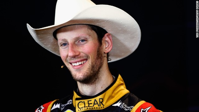 French driver Romain Grosjean proved he is no cowboy -- despite wearing a stetson to celebrate his second place at the 2013 United States Grand Prix -- by securing a third year at Lotus.