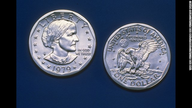 The Susan B. Anthony dollar was made between 1979-1981 to remember her struggle in defending women's rights. It was produced from 1979-1981, according to the U.S. Mint.