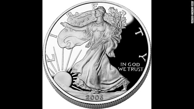 "According to the U.S. Mint, the ""American Eagle"" silver dollar is based on the 1916 ""Walking Liberty"" half dollar."