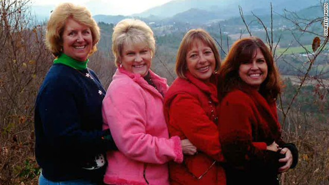 As they did in 2001, Benken, Wade, Schoninger and Plevyak stopped at the overlook between Dillard, Georgia, and Highlands, North Carolina, in 2009.