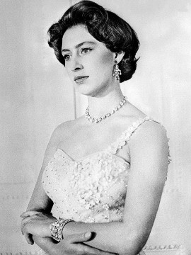 "Princess Margaret was known as a great beauty of her time, and a London ""it"" girl in the 1950s. She had greater freedom to follow fashion than her sister Queen Elizabeth II, who needed to dress for diplomacy and champion British designers. Here she is pictured on her 26th birthday."