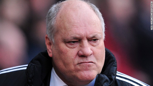 Martin Jol cut a disconsolate figure during Fulham's 3-0 defeat to West Ham in the English Premier League - his last game in charge.