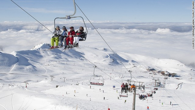 With more than 100 kilometers of trails and 116 ski runs, Spain's most popular ski area is located just 32 kilometers from Granada.