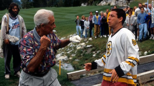 "For his cameo appearance in the 1996 Adam Sandler film ""Happy Gilmore,"" Barker won a MTV Movie Award for ""best fight scene."""