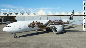 Air New Zealand\'s new Hobbit-themed livery features the dragon Smaug.