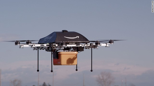 Amazon's drones will make delivering products to customers' doors easier.