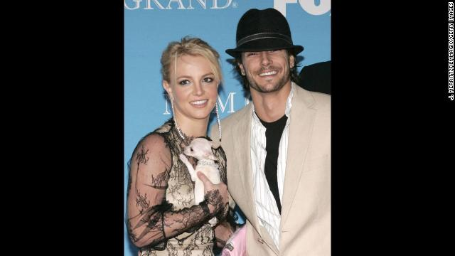 Spears and then-husband Kevin Federline arrive at the 2004 Billboard Music Awards at MGM Grand in Las Vegas.