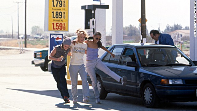 "In 2002, Taryn Manning, Spears and Zoe Saldana appear in the film ""Crossroads."""
