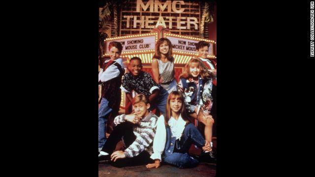 "As a youngster, Spears was a member of the a new generation of the ""Mickey Mouse Club"" shown here sitting next to Ryan Gosling in the front row along with, from left in back row, T. J. Fantini, Tate Lynche, Nikki Deloach, Christina Aguilera and Justin Timberlake."