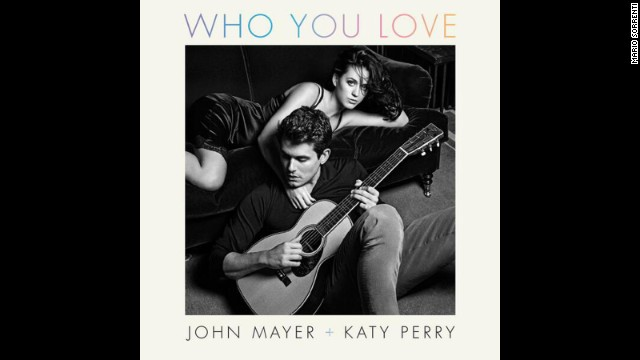 John Mayer and Katy Perry get close on album cover