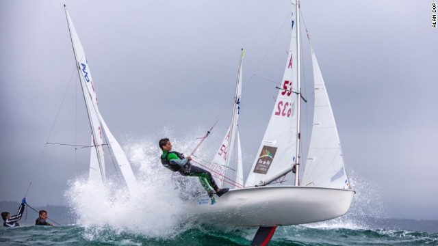 The physicality of sailing is summed up with aplomb here during August's 420 European Junior Championships in Pwllheli, Wales, with winds of 20 knots.
