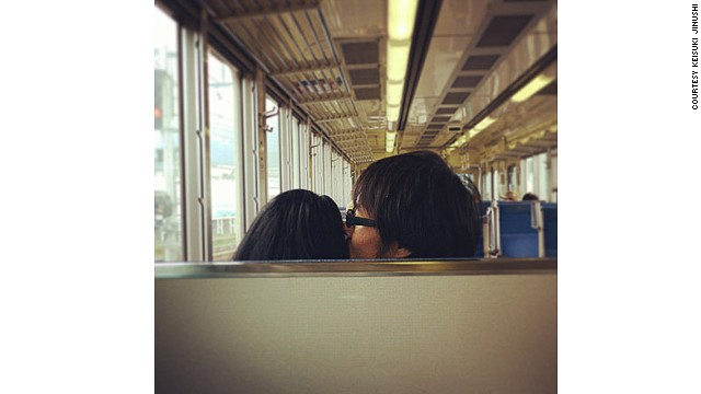 "Just like real PDA couples, Keisuke says the first rule for single travelers who want to take ""hitori date"" photos is ""don't be shy."""