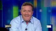 Piers Morgan rides a Flywheel in studio