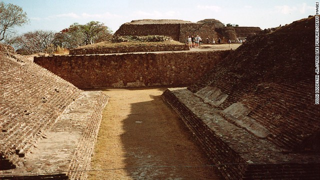 Monte Alban was built to be grand, from the ceremonial pyramids to the stadium surrounding the ball court (seen here).