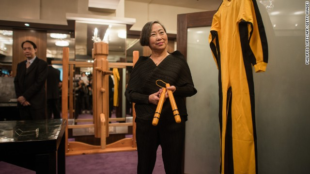 Bruce Lee's iconic jumpsuit up for grabs...