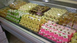 Indian sweets -- just one of many ethnic treats available in Joburg.