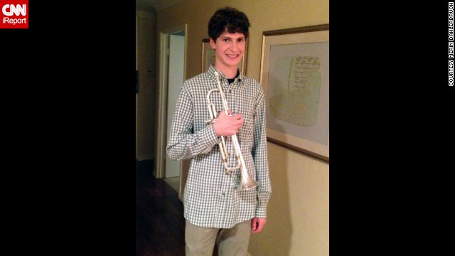 """Merin Dahlerbruch says whenever her 17-year-old son is angry, stressed or down, he picks up his trumpet. """"It gives him something else to focus on and allows him a fresh start. We love that he is already learning how to handle stress on his own, which hopefully will set him out on a good path for his life,"""" she added."""