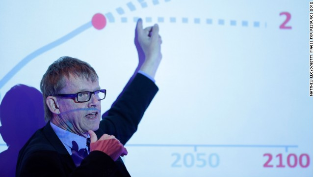 Hans Rosling says the average woman in the world now has 2.5 children and we are