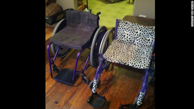 Vayner decided she wasn't going to live a sedentary life and threw away her motorized wheelchair. She built a new sport wheelchair that was efficient for rolling long distances.