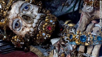 Mystery of Rome's jeweled skeletons